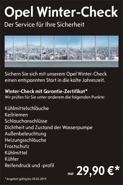 Winter-Check 2018