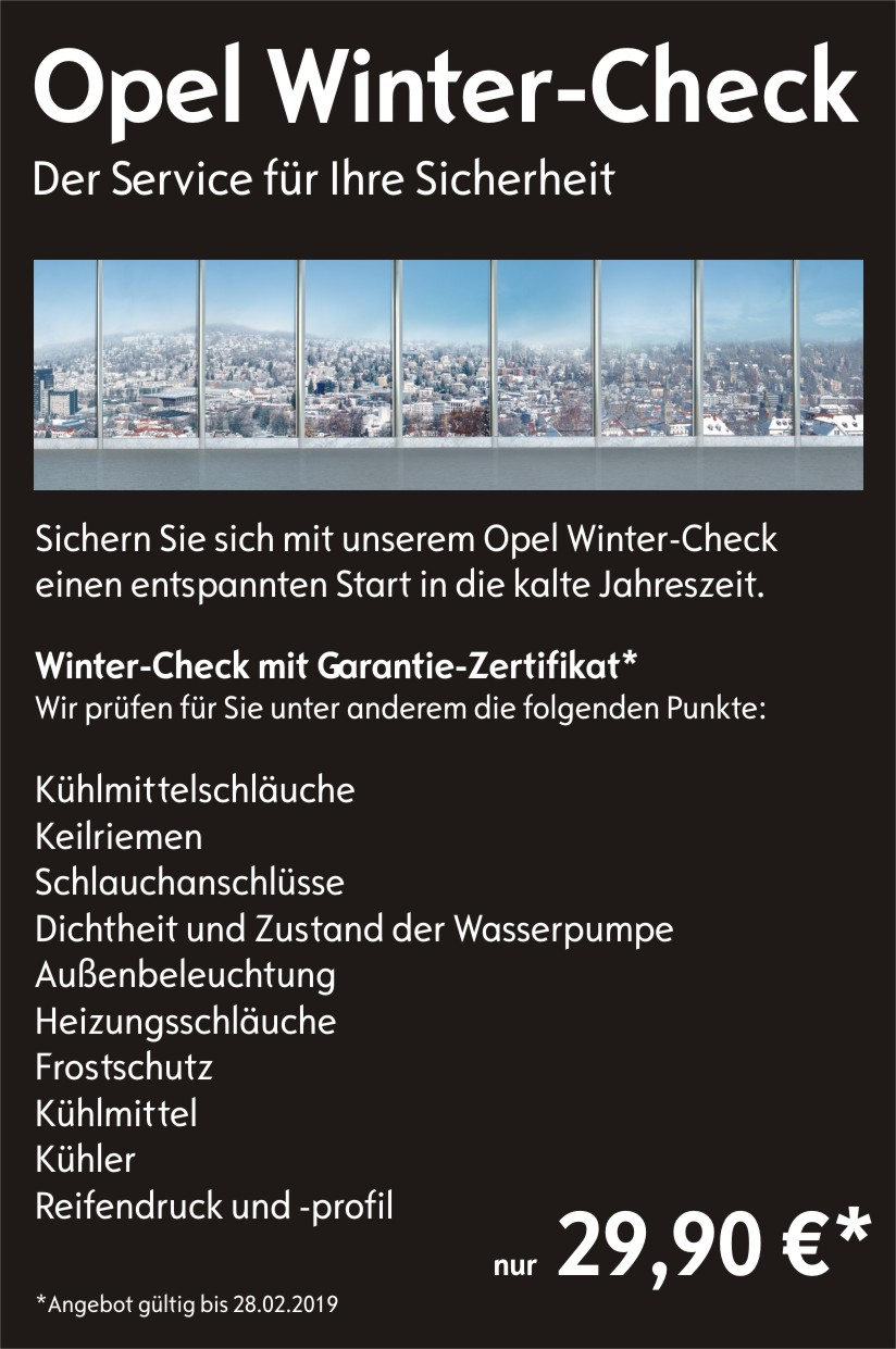 Winter-Check 2018