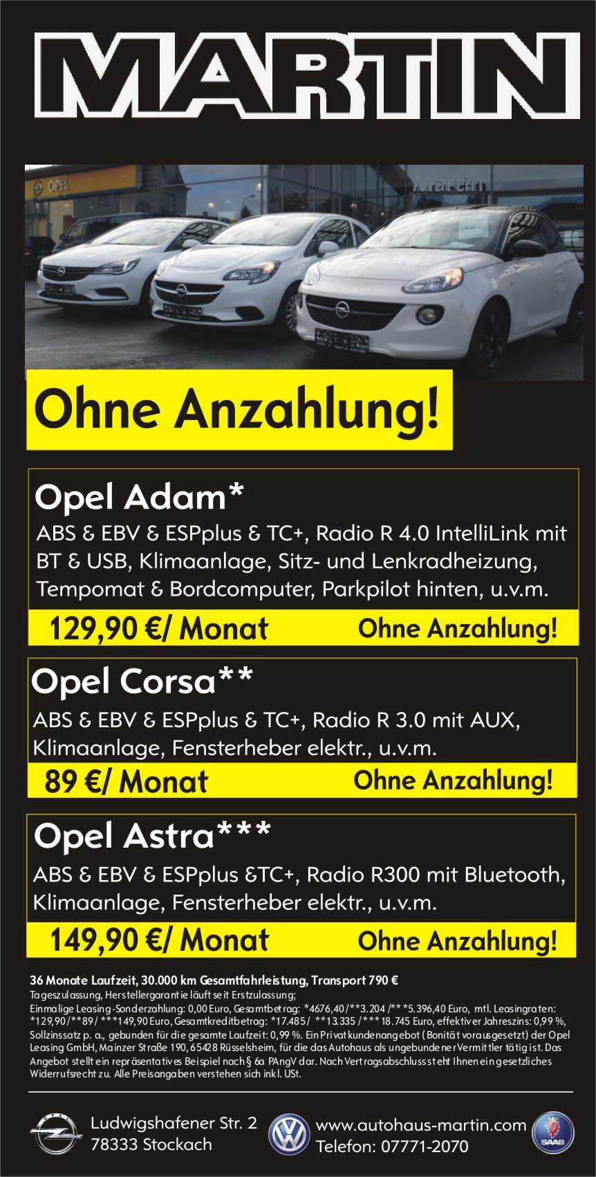 Leasing ohne Anzahlung